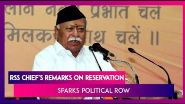 Political Firestorm After RSS Chief Mohan Bhagwat Calls For Talks On Reservation